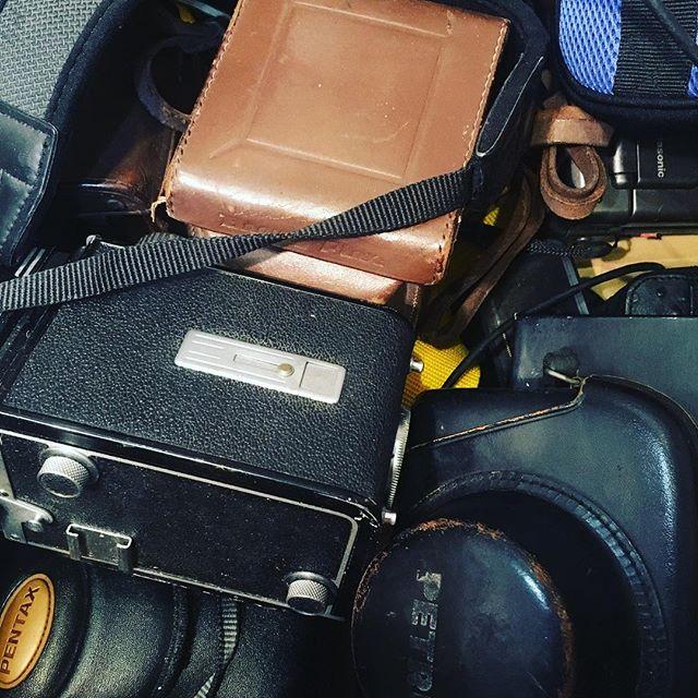 たくさんの古いカメラを買い取りしました。